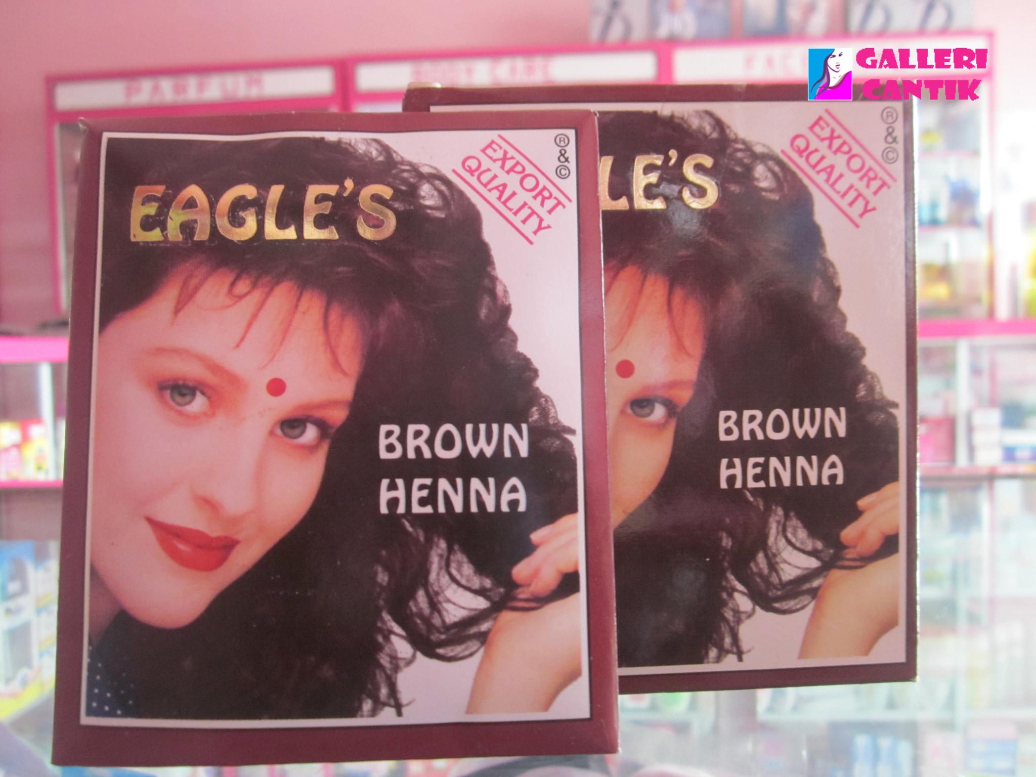 Jual Henna Cat Rambut Coklat Eagles S Brown Hena 10gr Galleri