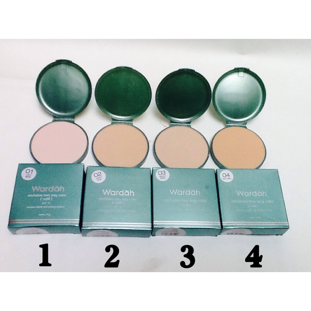 wardah exclusive two way cake refill 14g
