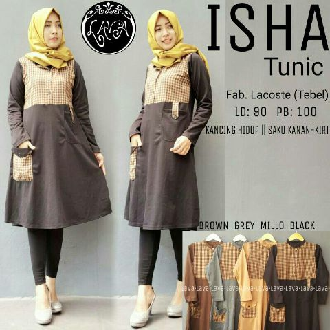 Model Baju Hijab - Isha Tunik
