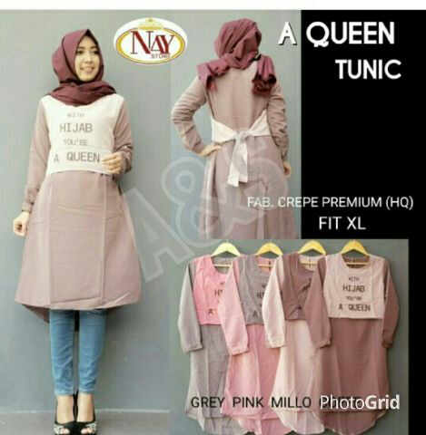 Model Baju Hijab - Queen Tunik