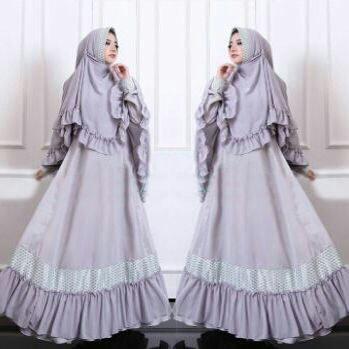 bergo hawa aiwa set hijab grey