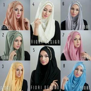 Hijab / Jilbab Kerudung Hoodie Deeja Fiori Pearly Premium