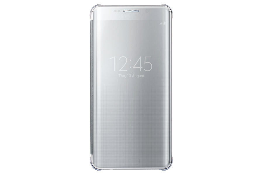 Samsung Clear View Window Flip Cover For Samsung A7 2016 Edition - Sil