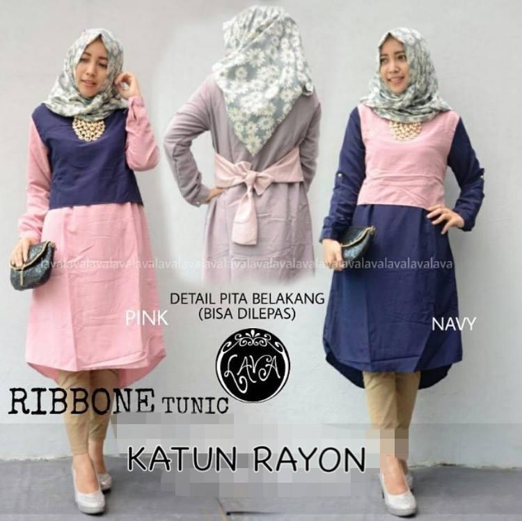 Pakaian wanita muslimah hijab - Ribbone Tunic