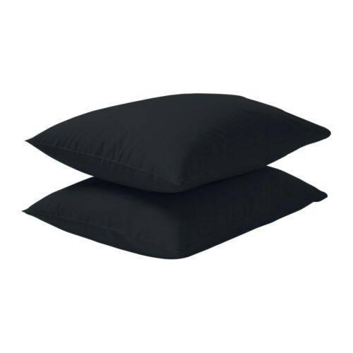 jual ikea dvala sarung bantal 50 x 80 cm hitam isi 2. Black Bedroom Furniture Sets. Home Design Ideas