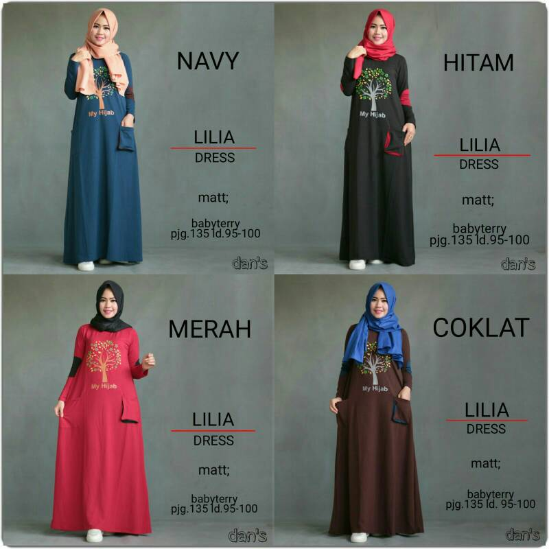 LILIA DRESS MINIMAXY / SUPPLIER BAJU HIJAB WANITA