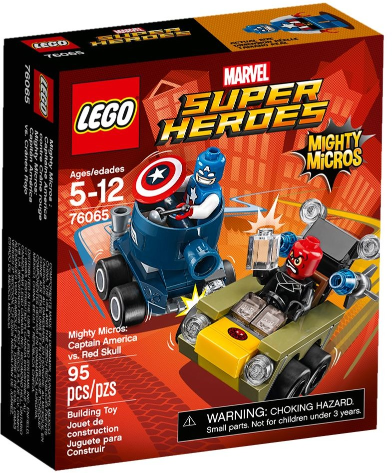 LEGO # 76065 MARVEL  Mighty Micros: Captain America vs. Red Skull