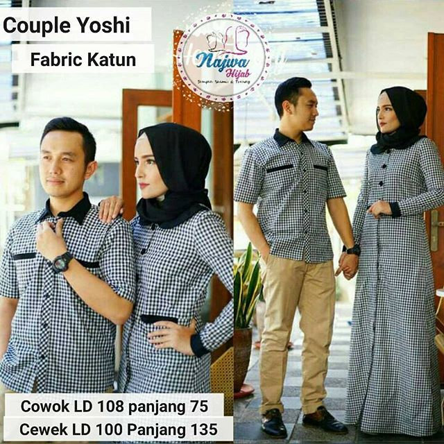 SUPPLIER BAJU HIJAB COUPLE YOSHI NJ