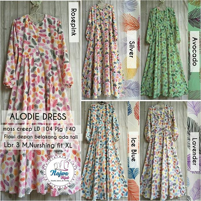 SUPPLIER BAJU HIJAB ALODIE DRESS NJ