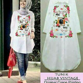 Baju Atasan / Blouse Muslim / Tunik Hijab Vintage Tunik