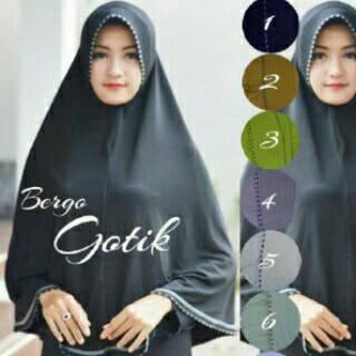 Hijab jilbab kerudung Begor instan Gotik