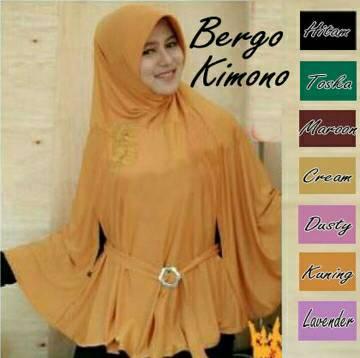 Hijab jilbab kerudung instan Bergo Kimono
