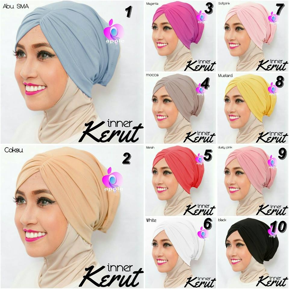Inner Bandana Kerut by Apple Hijab