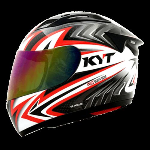 Jual Helm KYT RC Seven RC7 7 Full Face Motif Fullface Black White .