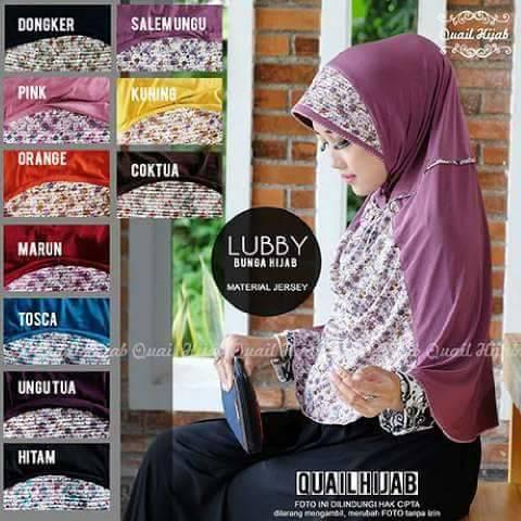 LUBBY jilbab hijab instan bergo jersey kombinasi grosir