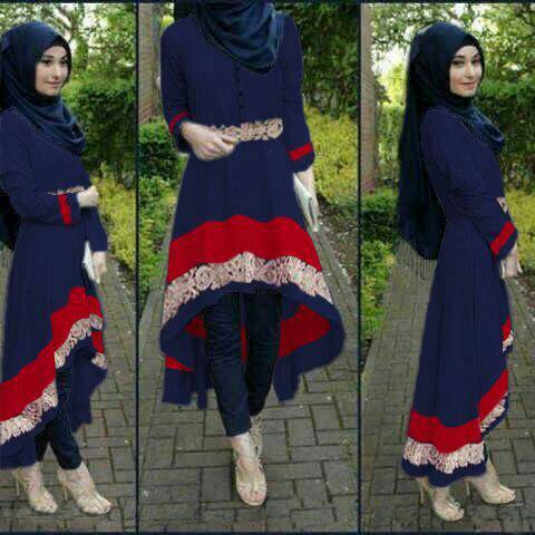 set hijab kiara navy 3in1