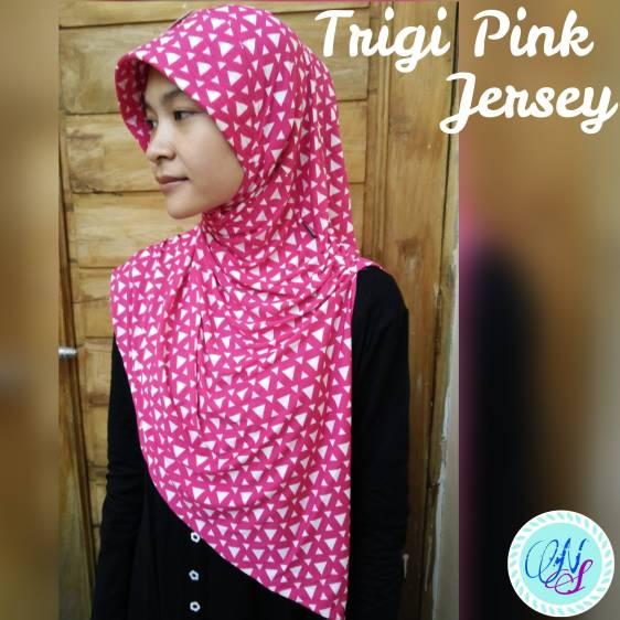 Arzety Monochrome Trigi Warna Jilbab Hijab Instan Jersey