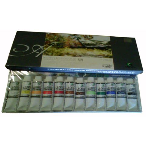 Maries Acrylic Colour Set Type 812 12warna