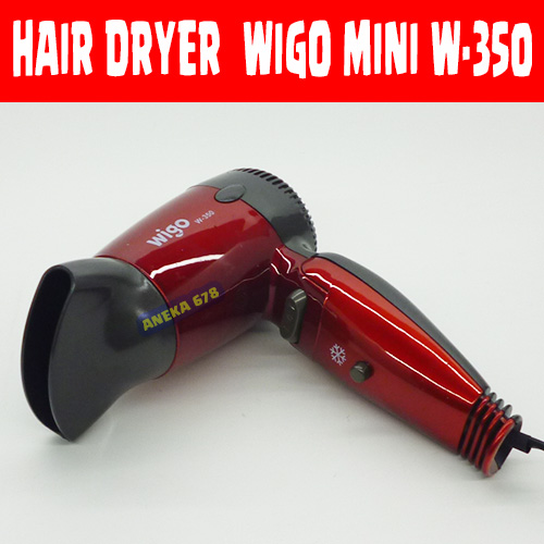 Jual HAIRDRYER Wigo mini W-350 Hair Dryer Pengering rambut Hairdrayer - MEGA BINTANG SKINCARE