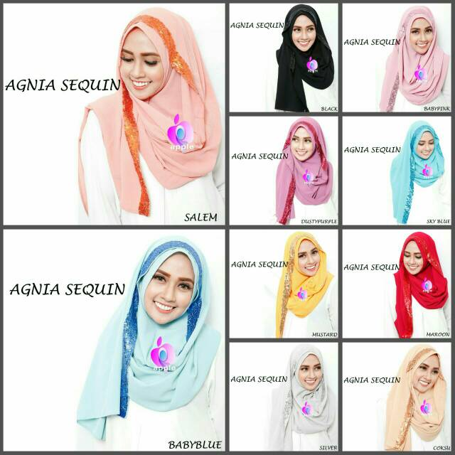 Agnia Sequin Syria By Apple Hijab Brand