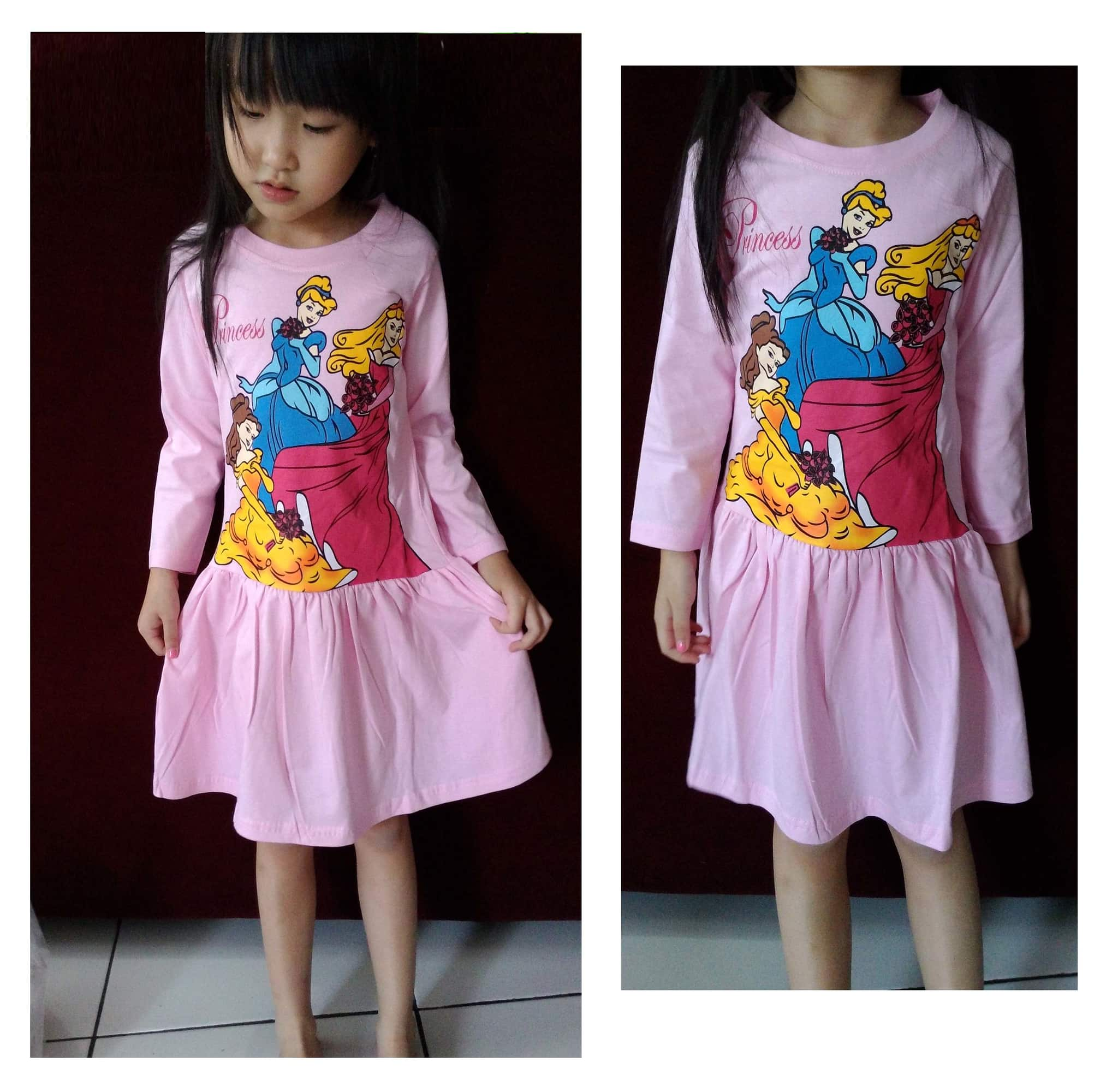 DRKD79 - Dress Anak LP Pink Princess