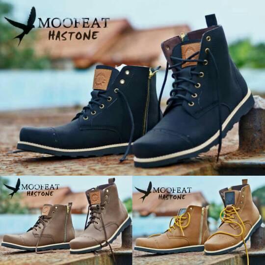 Jual Sepatu Boot Moofeat Hastone Original Handmade Murah