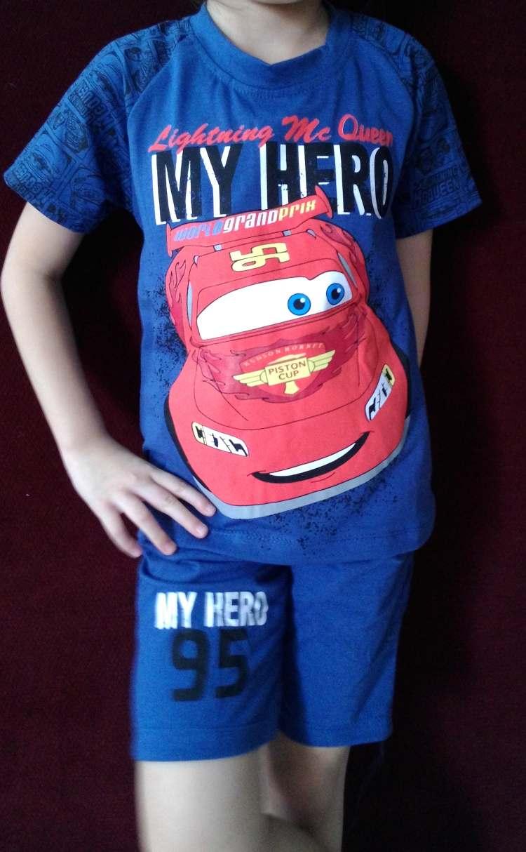 STKDL184 - Setelan Anak Laki CARS Blue My Hero Murah