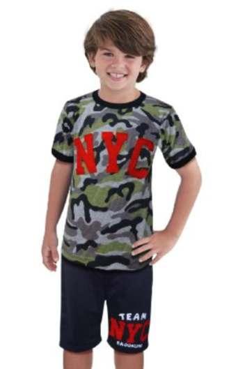 STKDL185 - Setelan Anak Laki NYC Army Murah