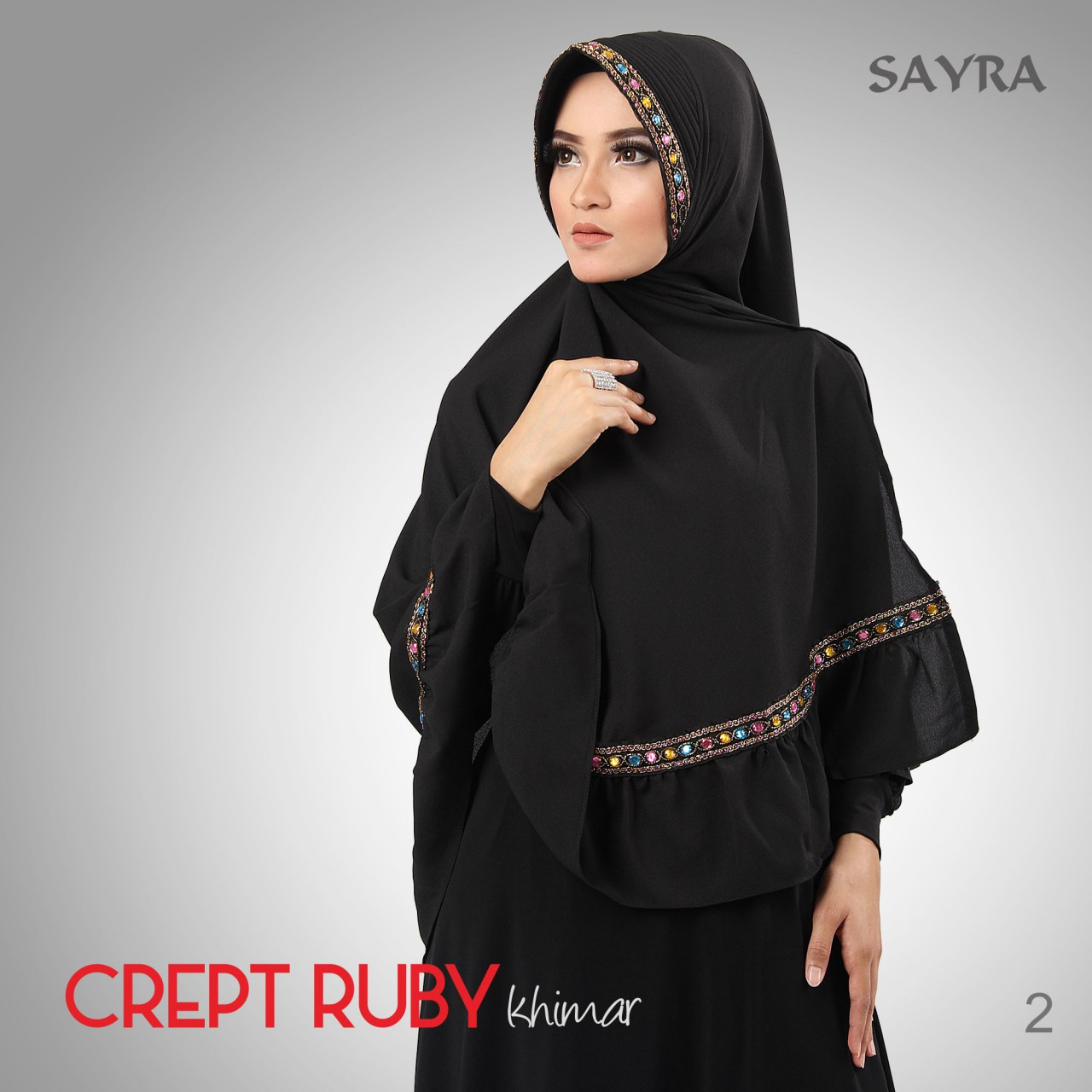 Khimar / bergo / hijab / jilbab syari Crept Ruby