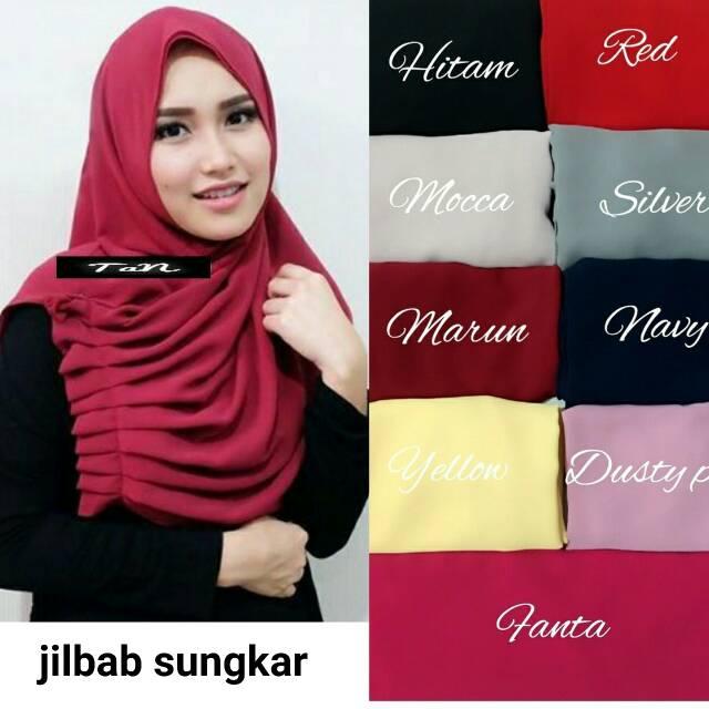sungkar hijab / jilbab instan / bahan crepe / diamon italiano
