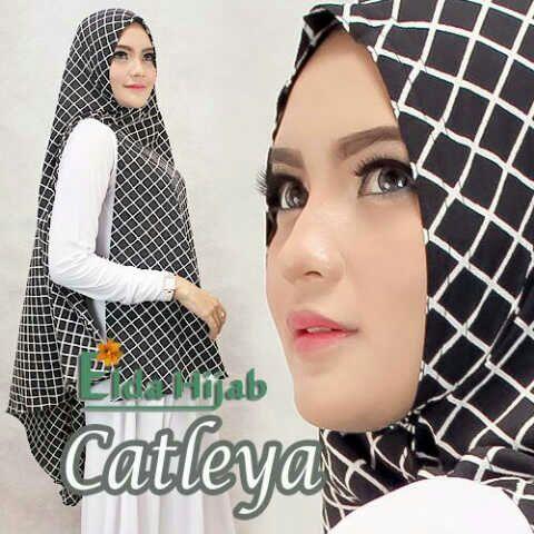 Khimar / bergo / hijab / jilbab syari Catleya Monocrom