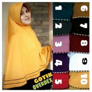 Khimar / bergo / hijab / jilbab syari gotik overdeck