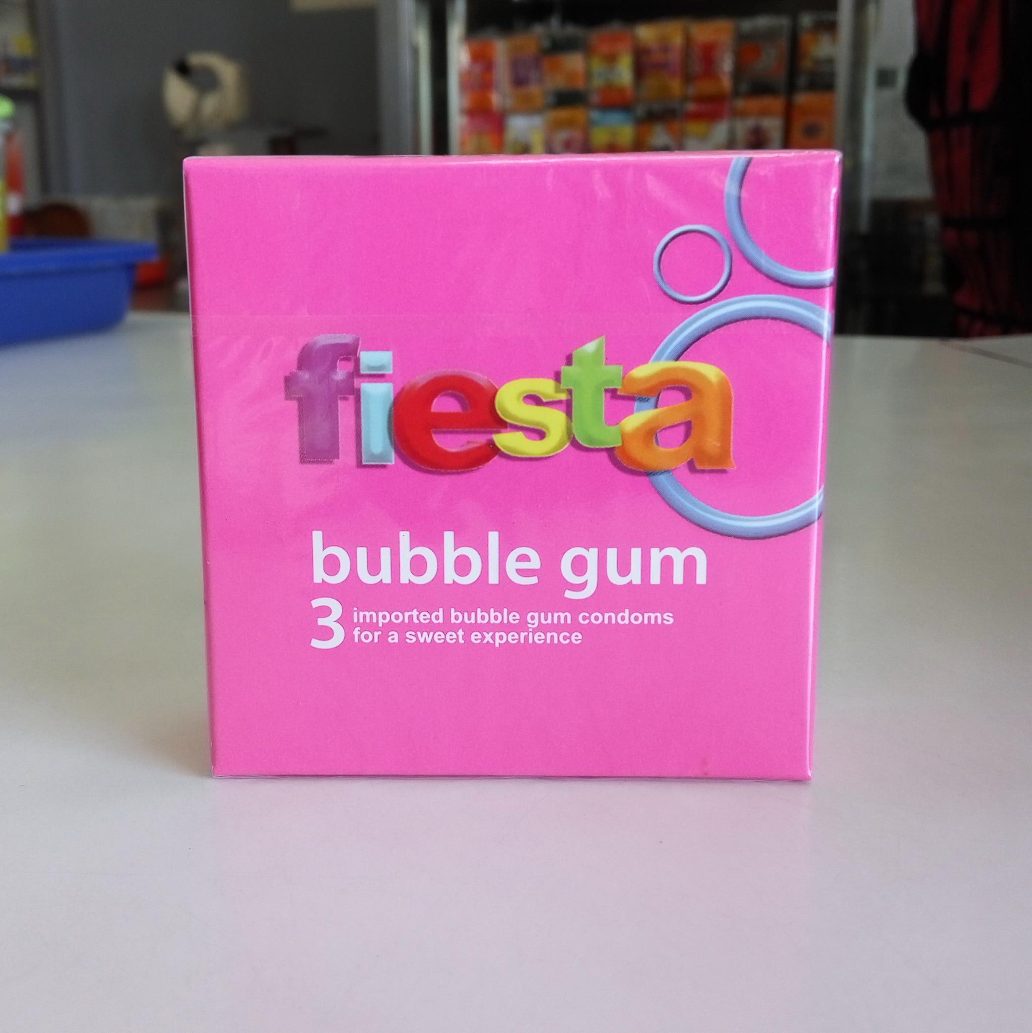 Fiesta Kondom Isi 3 Bublegum Daftar Harga Terkini Dan Terlengkap Durex Pleasuremax Kontrasepsi Jual Bubble Gum