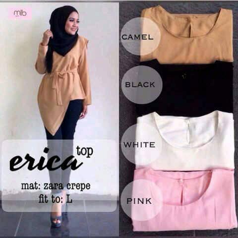 erica top / blus murah / baju murah / grosir hijab / supplier pakaian