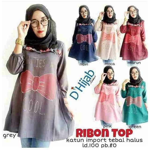 grosir baju murah / baju muslim / baju wanita / HIJAB RIBBON TOP