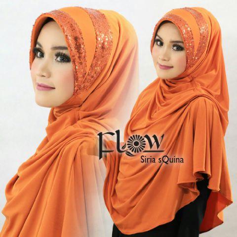 khimar / bergo / hijab / jilbab syari flow syria squina premium