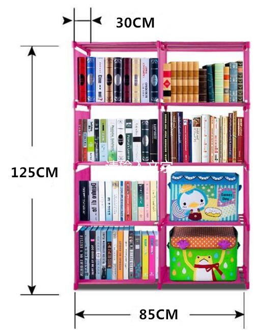 Rak Buku Portable, Rak Buku 2 Sisi, Lemari Buku, Rak Serbaguna