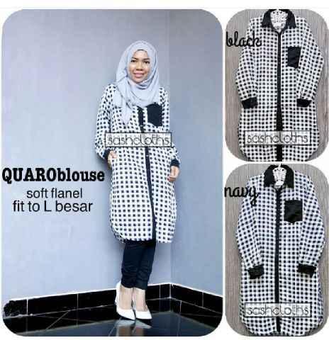Quaroblouse Dress Murah/Hijab/Baju Muslim Grosir Cewe/Keren/Terbaru