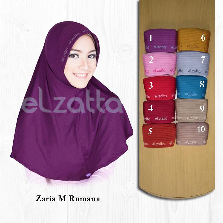 Elzatta Zaria M Rumana bergo / Jilbab Instan / Hijab / Kerudung