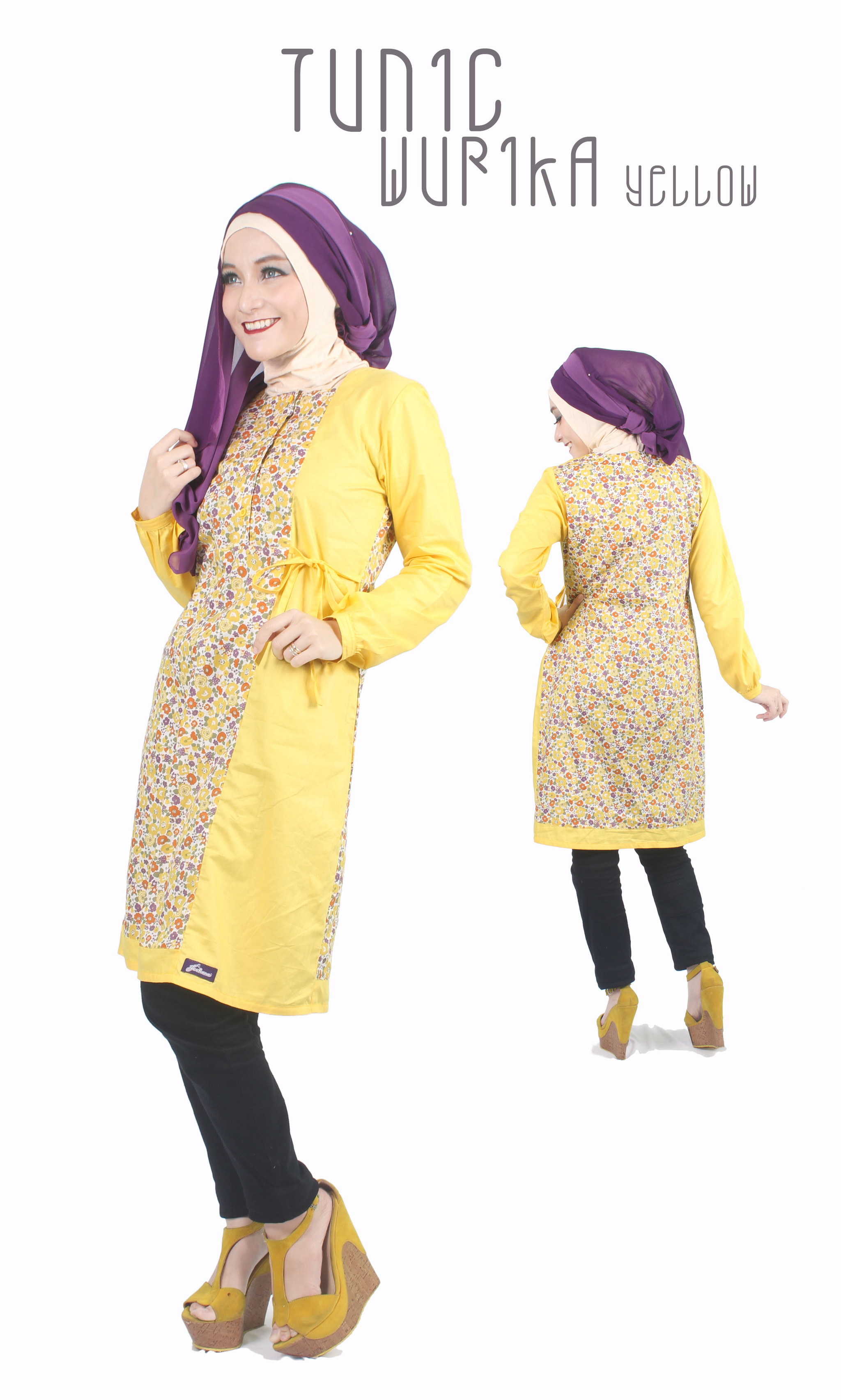 Jual Tunik Muslim Baju Muslim Atasan Muslim Tunik Katun