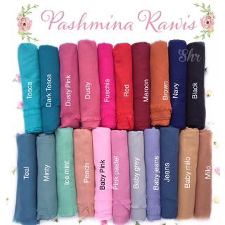 pasmina pashmina rawis india hijab hijaber kerudung jilbab warna warni