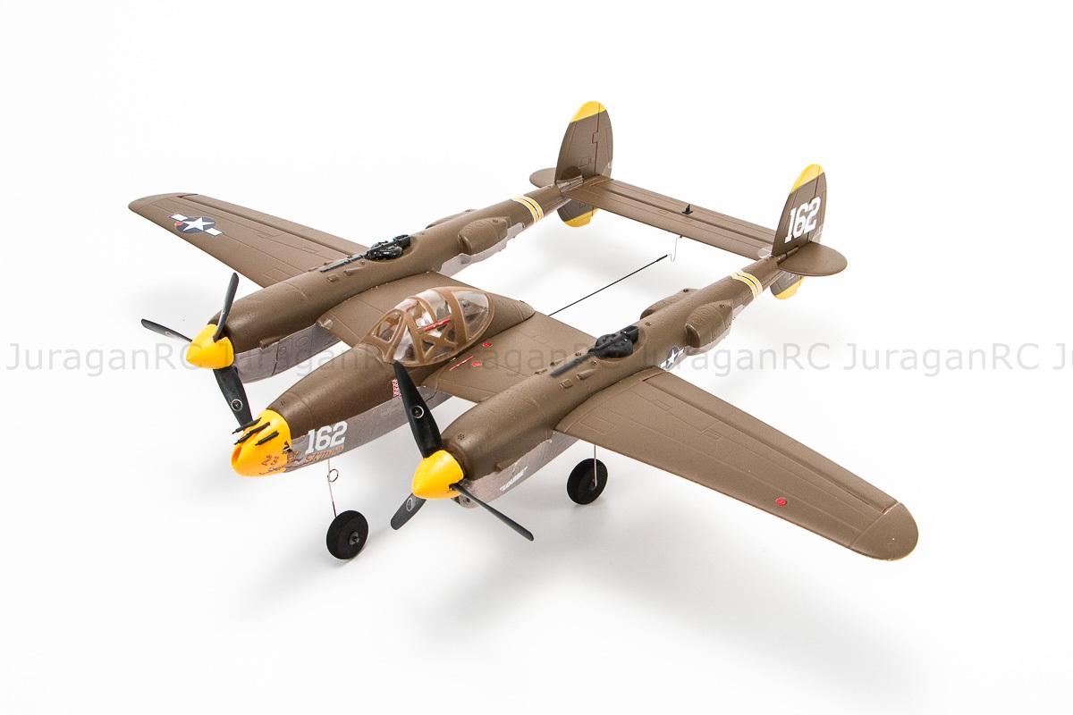 RC Airplane EasySky P-38 Lighting 5CH 2.4Ghz 525mm - RTF