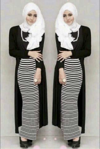 CHS_132117 maxi lili hitam+card / setelan hijab