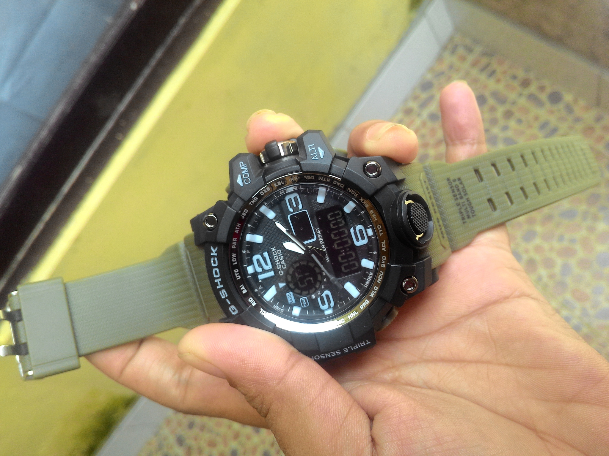 g shock gwg 1000 tali hijau green army gshock gwg 1000 casio digital