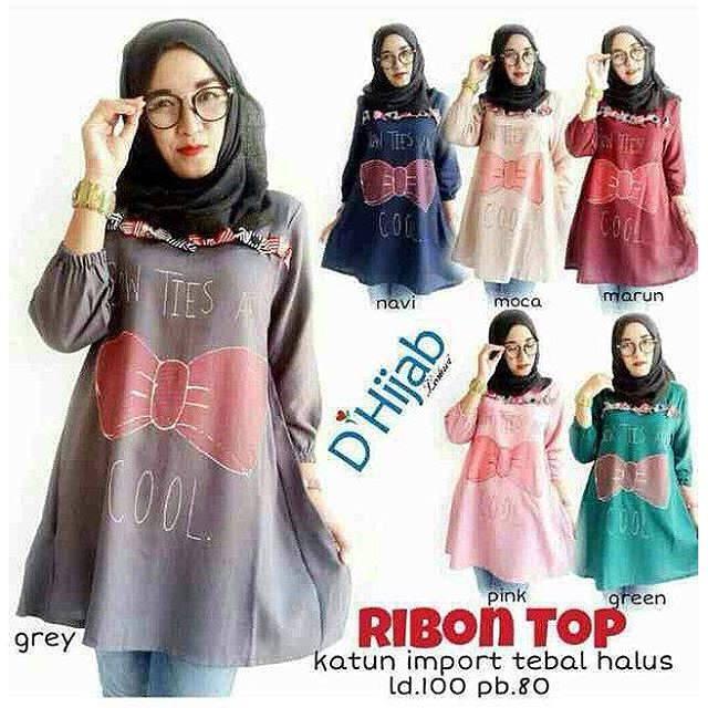 D' Hijab Ribbon Top