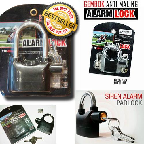 Gembok Alarm / Lock Elektrik / Kunci Anti Maling / Besar