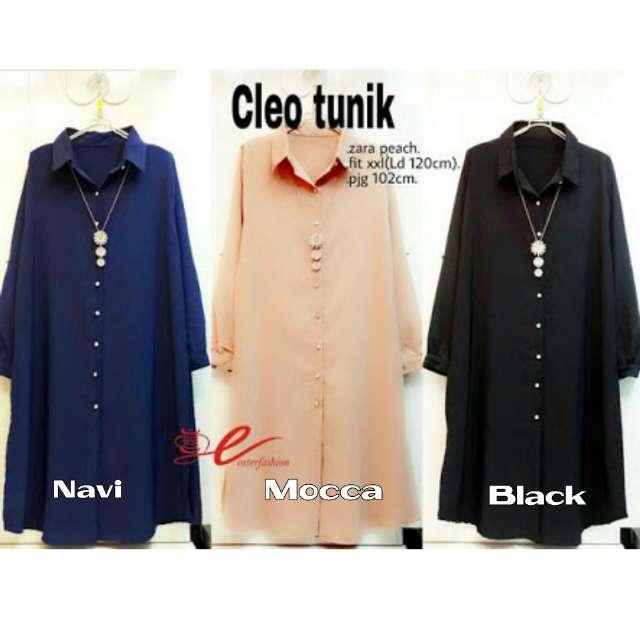 Cleo tunik katun rayon /blouse/atasan/muslim/hijab