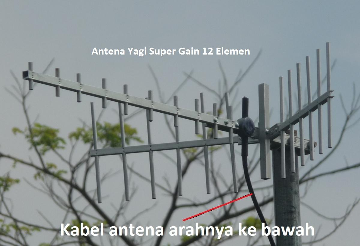 Antena Yagi Penguat Sinyal Modem Mifi 12 Element 15m dual Pigtail 3G 4G LTE 1800mhz-2300mhz