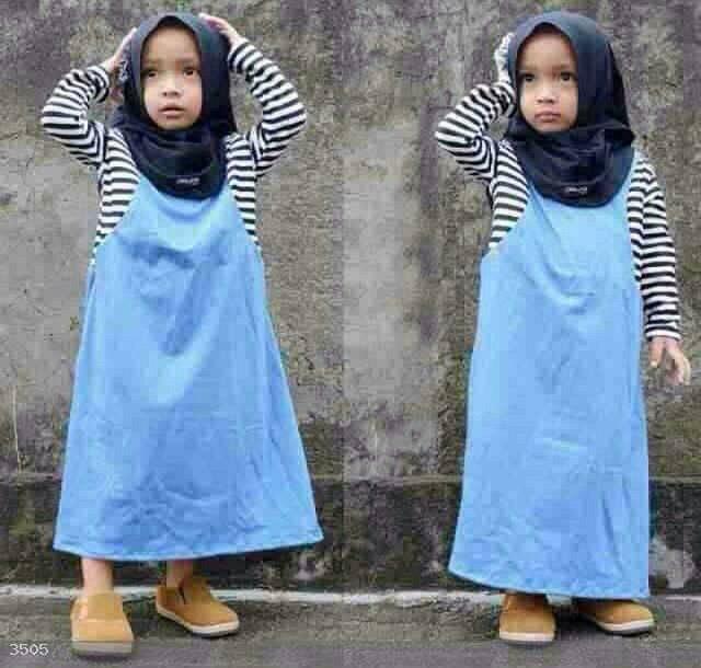 set hijab cindy kids biru
