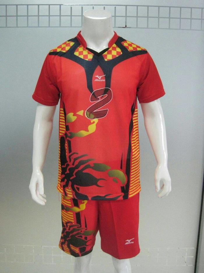 Stelan Seragam Kostum Voli/volly Mizuno Terbaru (baju+celana)